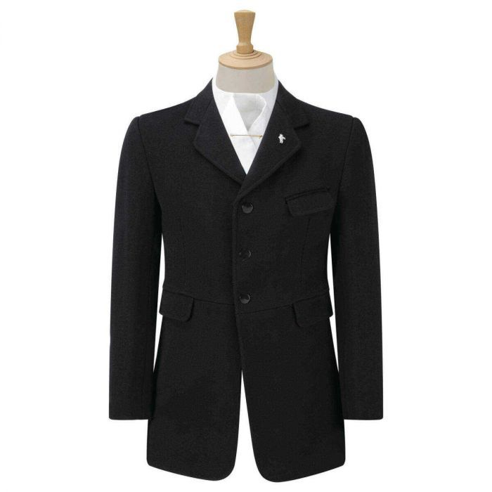 Caldene Wessex Mens Semi Hunt Coat Black. One of the most popular jackets for men, the design is ideal for all genres of horse riding. The Caldene Wessex Men's Semi Hunt Coat is ideal for the show ring, dressage arena and hunting field making it one of the most popular Caldene jackets for men.  Shop now: https://harryhall.com/wessex-mens-semi-hunt-coat-black