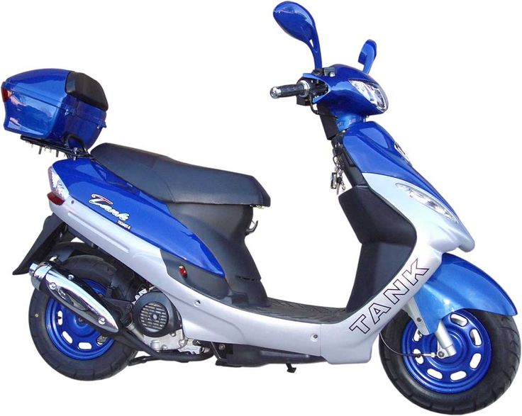 blue scooter | Extreme-Scooters - Buy Tank 50cc Gas Motor Scooter - Best Low Price ...