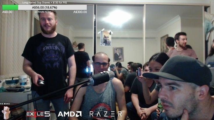 PiG going bald as promised! #games #Starcraft #Starcraft2 #SC2 #gamingnews #blizzard