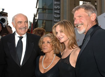 Sean Connery, wife Micheline Roquebrune, actress Calista Flockhart and actor Harrison Ford - 2006