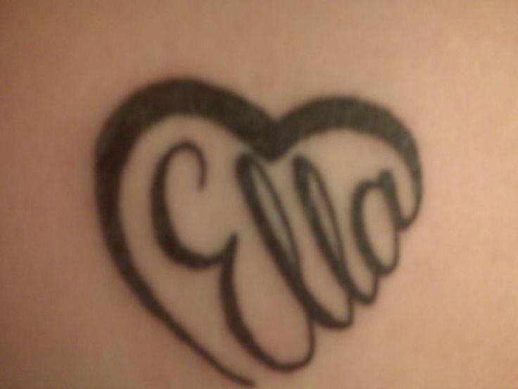 Heart name tattoo