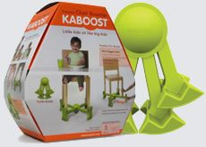 Kaboost. Much easier to use than booster seats and incredibly portable to take to restaurants without booths and grandma's house. Stylish because keeps dining chairs matching.