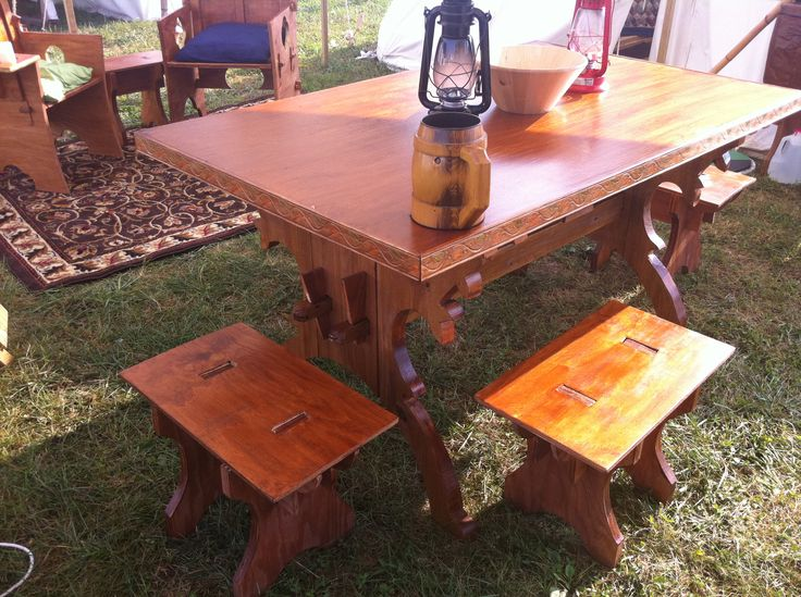 Superb Pennsic Camp Table: Honor Before Victory