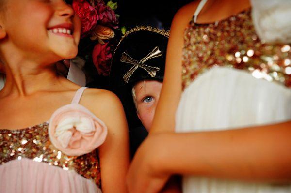 pirate and princesses at wedding, photo by Phoenix based Sergio Photographer | junebugweddings.com