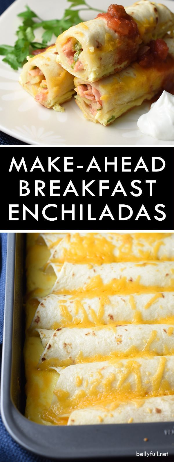 This Make-Ahead Breakfast Enchiladas recipe is a super easy and delicious casserole that can be made the night before and baked the next day! (Cheese Making Breakfast Casserole)