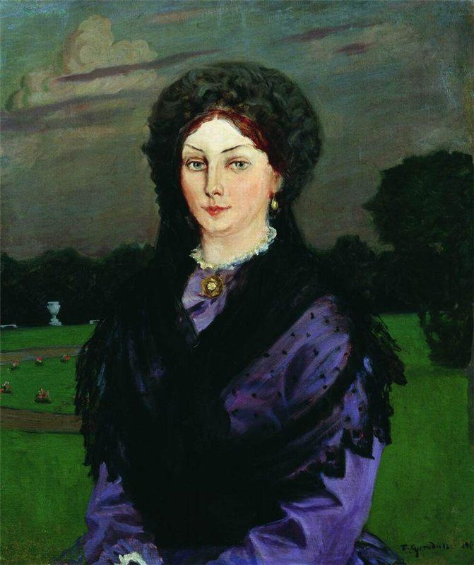 Борис Михайлович Кустодиев (1878-1927) - Женский портрет