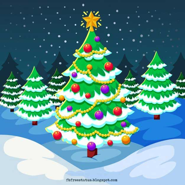 Christmas Tree Images Free Download Cartoon Christmas Tree Merry Christmas Images Merry Christmas Quotes