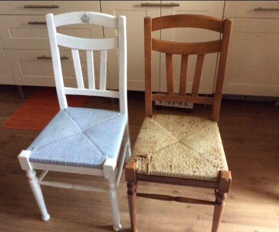 Vecchie sedie dipinte con chalk paint