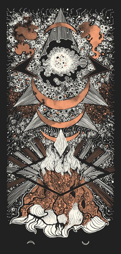 Image of Art Print : DARK MOON (2014) Screenprinted Poster