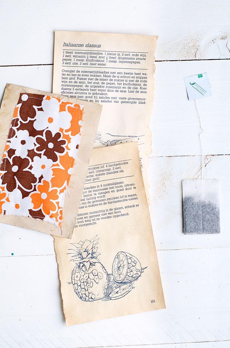 Vintage papier maken met een theezakje