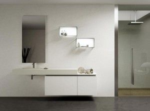 Bathroom Wall: Bathroom wall with the home decor minimalist bathroom furniture with an attractive appearance 19