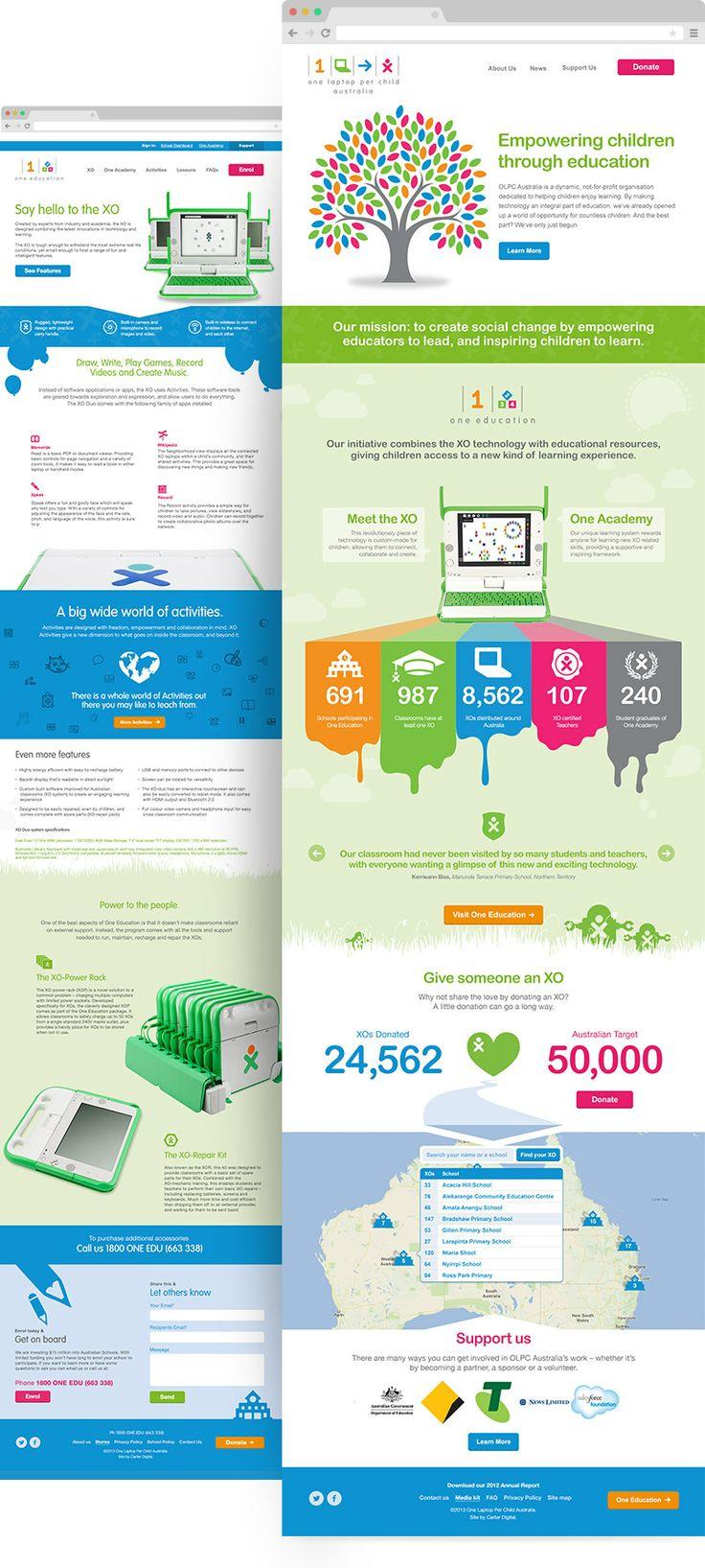 One Laptop Per Child - Desktop multi-website ux design and development project