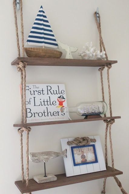 Nautical Nursery Rustic Shelves
