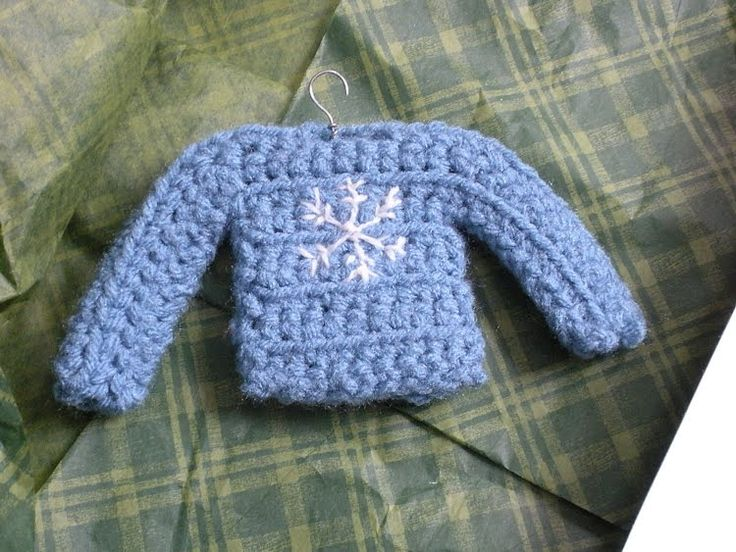 crocheted sweater Christmas ornaments Art, Adventures ...