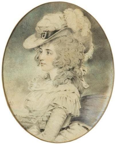 Portrait d'une femme, par John Downman