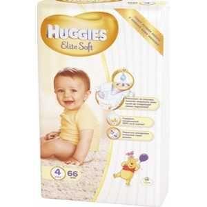 """Huggies """"Elite Soft"""" 4 (8-14кг) 66 шт 9400824  — 1518р. -------- Тип подгузники  Вес ребенка 9-15 кг  Пол унисекс    Ночные да  Приучение к горшку нет  Многоразовые нет  С индикатором да"""