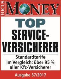 Die wgv ist Top Anbieter bei Kfz-Versicherungen! Focus Money, Ausgabe 37/2017