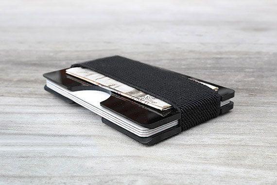 Mens Birthday Gifts, Minimalist Wallets, Mens wallet, Black Wallets, Designs For Him,  Cash Holder, Modern Wallet, Edgethewallet, (00BBB)