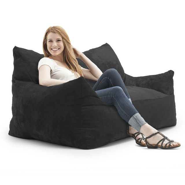Relax In The Comfortable FufSack Imperial Memory Foam Loveseat Lounge Bean Bag Chair This 2 Person Double Is Perfect To Use Bedrooms Dens