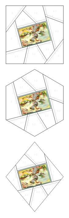 A Happy New Year crazy quilt block patterns posted on Janet Stauffacher's Nostalgic NeedleART blog in 2012.