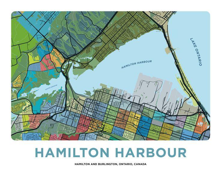 Hamilton Harbour Map Print