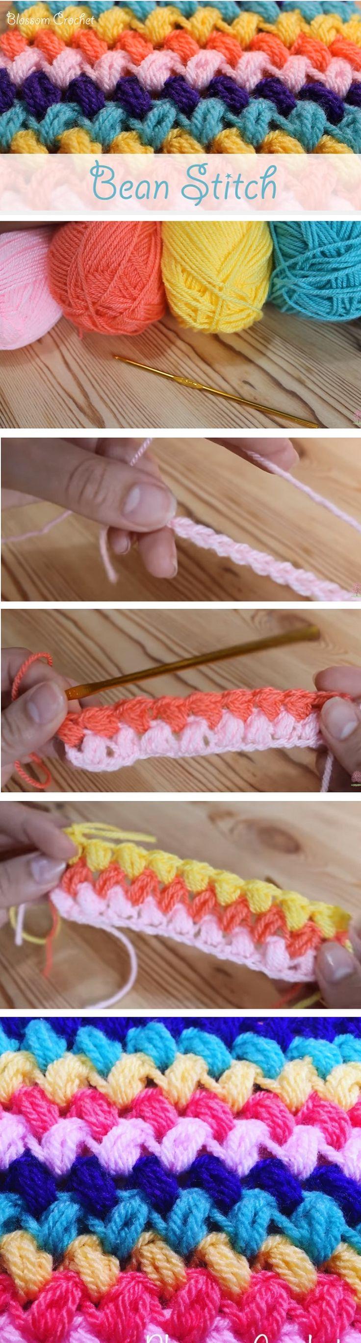 Bean Stitch Crochet Tutorial