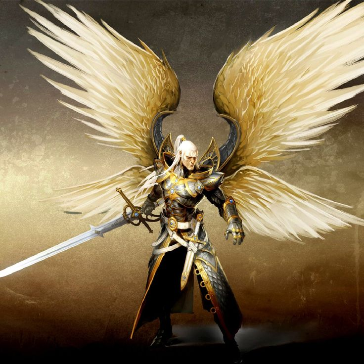 Golden warrior angel