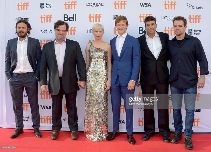 Actor Casey Affleck, writer/director Kenneth Lonergan, actors Michelle Williams…
