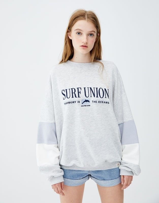 nuevo concepto a4768 7b24d Sweat Pull and Bear 20 € | styleee en 2019 | Camisetas mujer ...