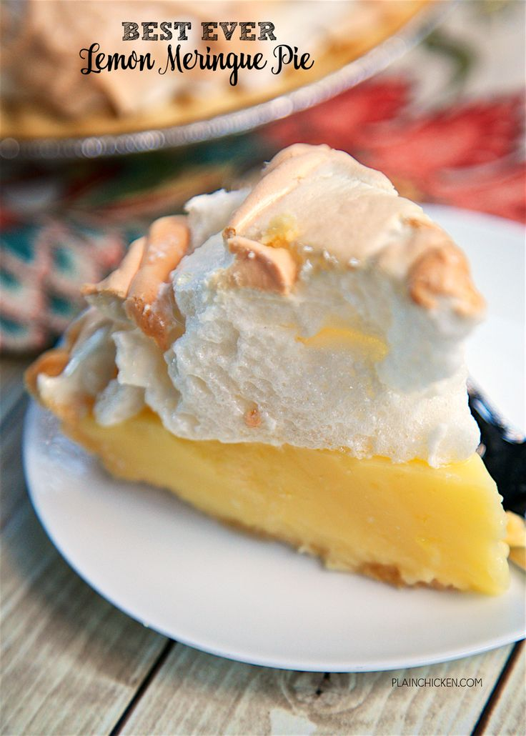 Best Ever Lemon Meringue Pie - homemade lemon pie topped with a quick homemade…