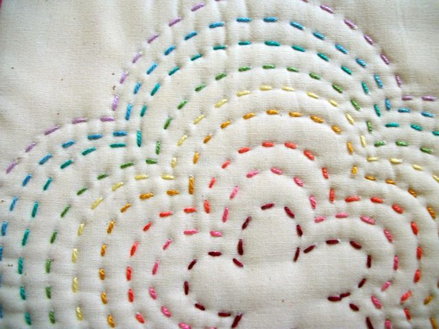 Colourful running stitch