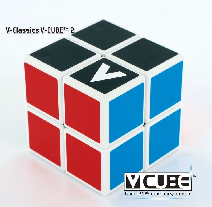 V-CUBE™ 2   Rotational Cube Twisty Puzzle  is the smallest version of the V-CUBE™ family. V-CUBE™ 2 is a multicored, two-layered cube with exceptional quality and incredibly smooth rotation. The player is required to discover a strategy to achieve uniform colored sides on her/his V-CUBE™2.