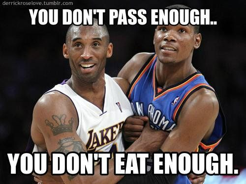 Funny NBA Pictures With Captions | thunder lakers la lakers funny nba memes memes nba durant kobe lol