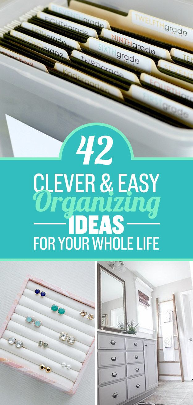 Simple organizing tricks!
