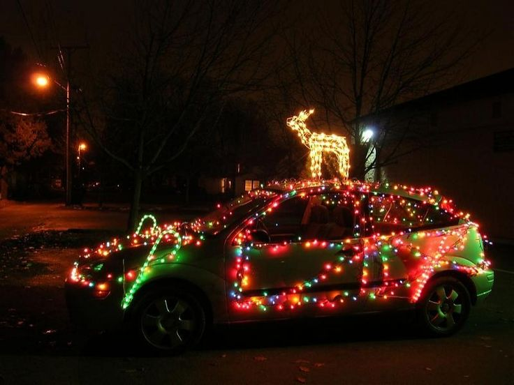 image for best christmas decorations for car - C5 Christmas Lights