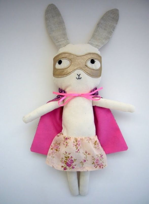 superherooooo...: Stuffed Toys, Doudou Masqué, Super Bunnies, Parties Stuff, Children Toys, Super Heroes, Handmade Crafts, Super Girls, Kid