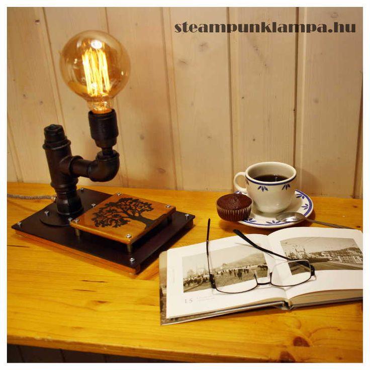 steampunk lamp, vintige, industrial