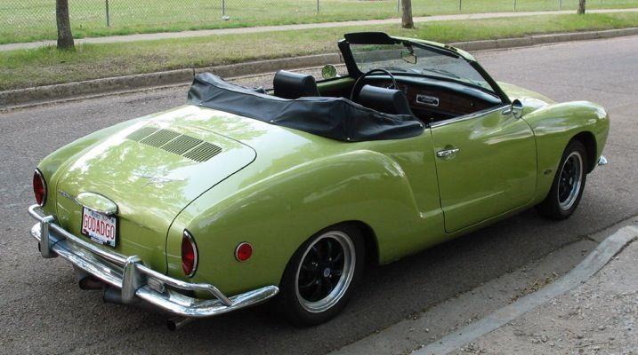 VW Karmann Ghia 1968. My first Karmann Ghia was a 1967 Candy Apple Green convertible. So much fun to drive.