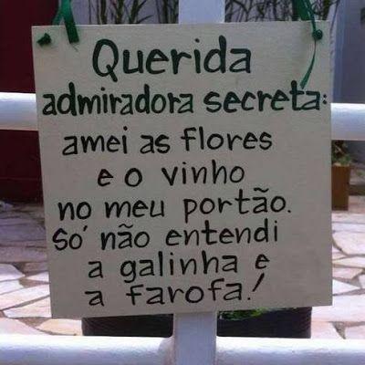 Imagem e Frases Facebook: Admiradora secreta!