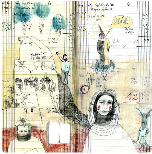 sketchbook by cristina sr, via Behance