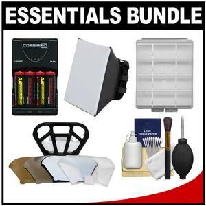 Another great product: Essentials Bundle for Canon Speedlite 320EX  430EX II  600EX-RT Flash with (4) AA Batteries & Charger + Soft Box Diffuser + Diffuser Bouncer + Accessory Kit Provide your camera with plenty of power with 4 AA ultra-high capacity 2900mAh Nickel Metal Hydride (NiMH) batteries and a multi-voltage rapid charger.Price: $39.95Read More and Buy it here!   http://ponderosa.co/c1008/essentials-bundle-for-canon-speedlite-320ex-430ex-ii-600ex-rt-flash-with-4-aa-bat