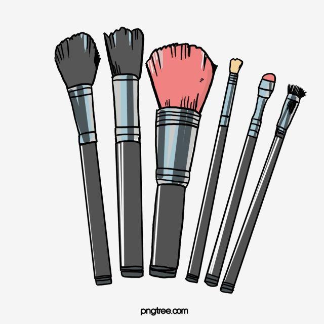 Hand Painted Makeup Brush Brush Effect Makeup Brush Makeup Brush Png Transparent Clipart Image And Psd File For Free Download Makeup Clipart Makeup Brushes Makeup Stickers