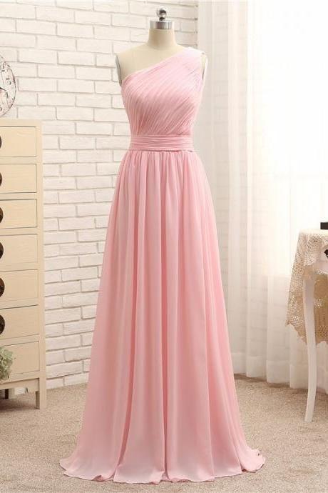 One Shoulder Prom Dresses,Pink Evening Gowns,Simple Formal Dresses,Mint Prom Dresses,Junior Prom Dance Dresses,One Shouler Bridesmaid Dresses,Pink Party Dress,Homecoming Dresses,Pink Bridesmaid Dresses