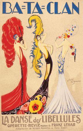 Ba-Ta-Clan Operetta Show Girl Cabaret Dance Vintage Poster Repro FREE S/H