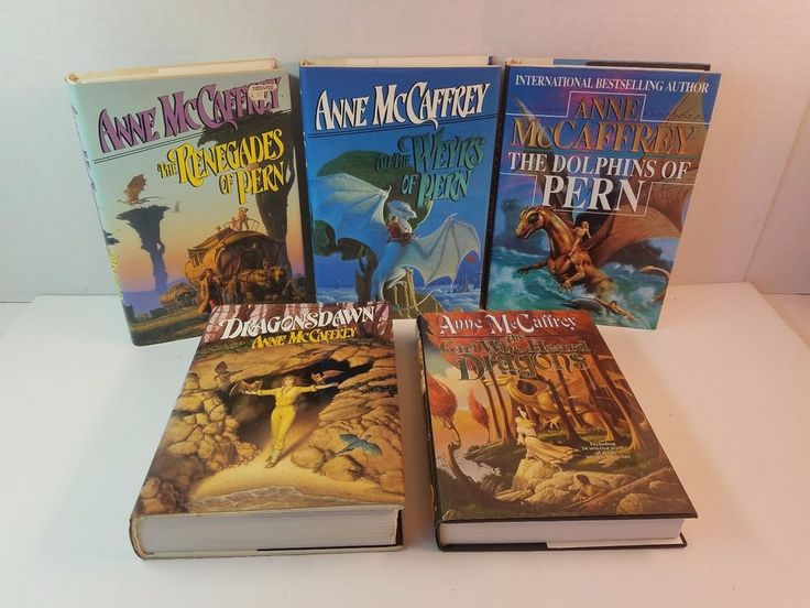 Lot Anne McCaffrey Hardcover Dust Jacket Dolphin Renegades Weyrs of the All Pern