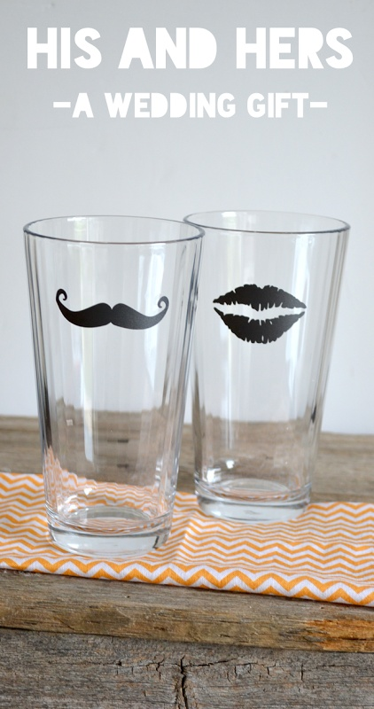 Wedding Present Idea–His and Hers Glasses #wedding #present