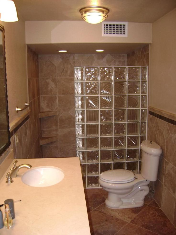 Attractive ... Ideas With Frosted Glass Shower Wall Divider Small White Ceramic Closet  And Marble Sink Countertop Best Way Bathroom Remodeling Ideas For Older  Homes ...