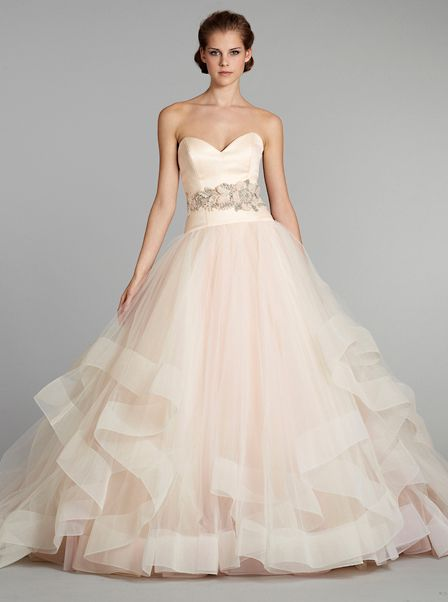 Lazaro Spring 2013 - the iconic blush wedding dress