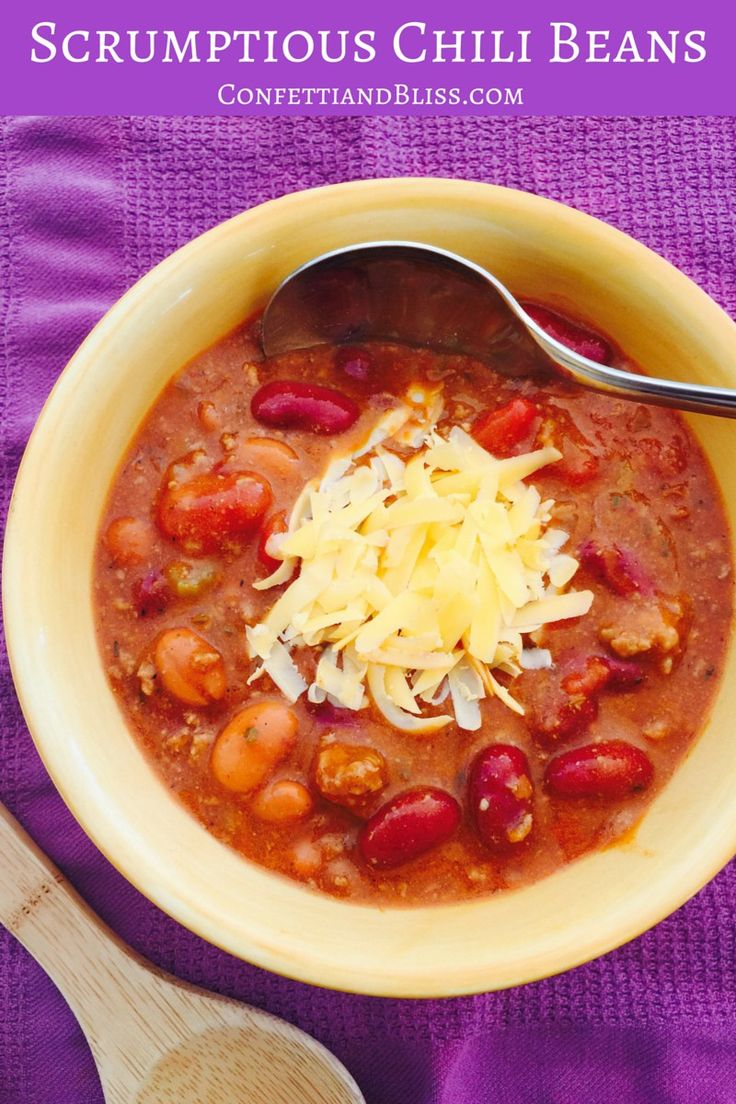 Scrumptious Chili Beans: How to Make the Best Chili Ever! This savory homemade recipe is easy and delicious. PIN NOW FOR LATER