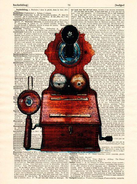 Originele prints - ANTIEK Phone Print Vintage Woordenboek Pagina - Een uniek…